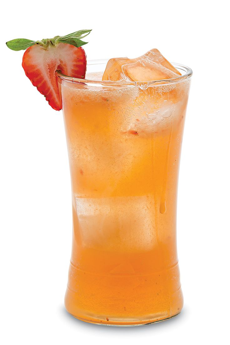 Kentucky Buck 1 chopped strawberry ¾ oz. lemon juice ½ oz. simple syrup 2 oz. Wild Turkey bourbon 2 dashes Angostura bitters 2 oz. ginger beer Strawberry slice, for garnish