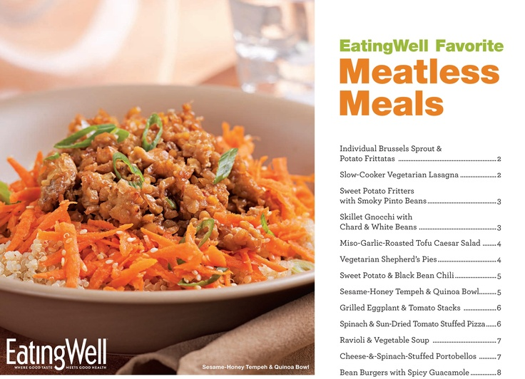 Download a free cookbook of Vegetarian Meals from @EatingWell. Link: http://www.eatingwell.com/free_downloads/healthy_vegetarian_recipes