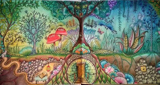 Underground burrow enchanted forest by Karine Calabra