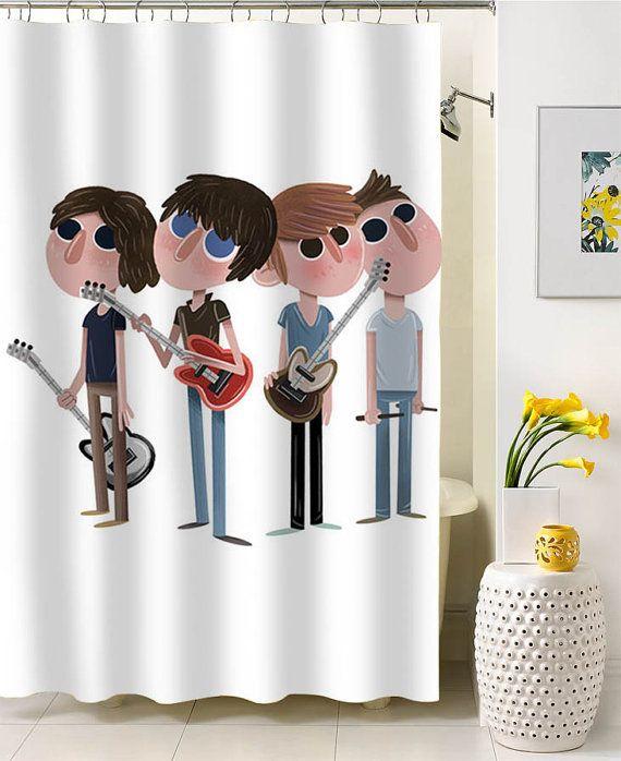 Arctic Monkeys Cartoon Shower Curtain Special By Nancicurtain