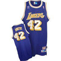 NBA Los Angeles Lakers #42 James Worthy Swingman Road Jersey