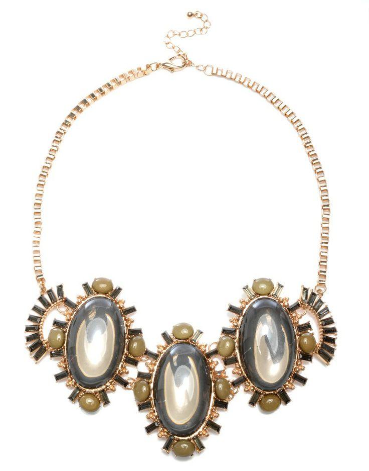 MAJIQUE   Diamante Necklace in Black -  - Style36