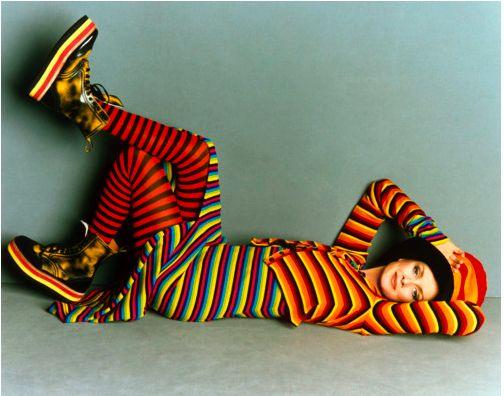 Twiggy in Anna Sui, shot by Steven Meisel. Vogue Italia, 1993