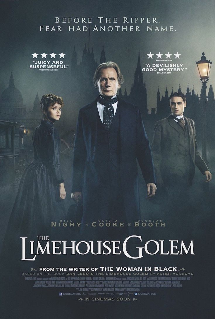 The Limehouse Golem (MA15+) Available 31 January – Outdoor from 30 April 2018. Drama/History. Rated MA15+, 109 Minutes. Starring: Bill Nighy, Olivia Cooke, Douglas Booth. Victorian London is gripped with fear as a serial killer is on the loose and leaving cryptic messages written in the blood of his victims. With few leads and increasing public pressure, Scotland Yard assigns the case to seasoned detective, Inspector Kildare. Faced with a long list of suspects, Kildare