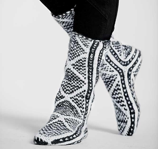 Жаккардовые носки - схема вязания спицами. Вяжем Носки на Verena.ru