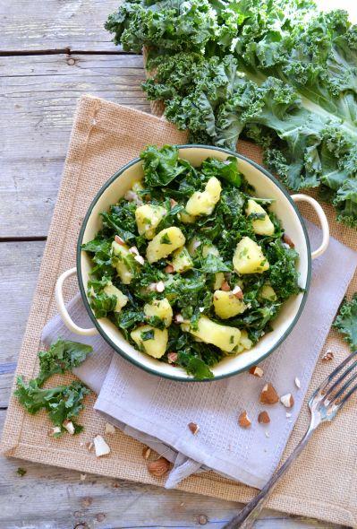 Salade de kale et pommes de terre #vegan #sansgluten | Green Cuisine