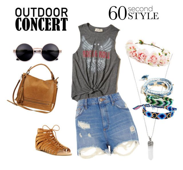 """""""Easy'n fast concert look"""" by gendbab on Polyvore featuring mode, Marc Jacobs, Rebecca Minkoff, Hollister Co., River Island, ANNA, Urban Expressions, Forever 21, GUESS et 60secondstyle"""