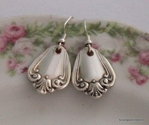 VALLEY Rose 1956 Spoon Jewelry Earrings by SilverwareCreations, $28.00