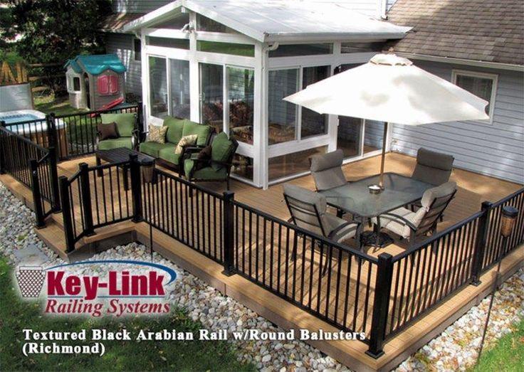 76 best key link aluminum porch deck railing images on pinterest