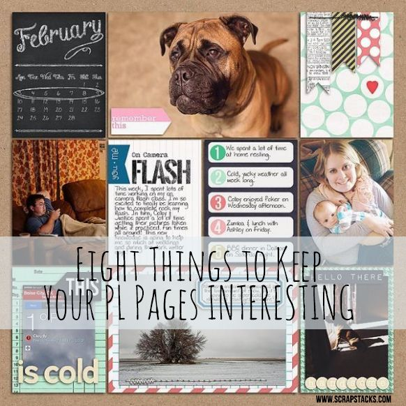 Pocket Scrapping Friday: Eight Things to Keep Your PL Pages Interesting.