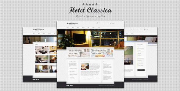 Hotel Classica - Clean Minimalist WordPress Theme