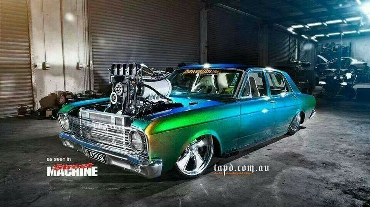 ◆ Visit MACHINE Shop Café... ◆ ~ Aussie Custom Cars & Bikes ~ (Wild Blown 1968 Ford XY Falcon)