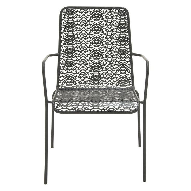 outdoor lounge chair iron black
