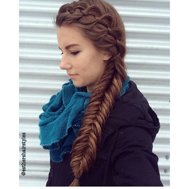 """""""4-strand Braid into Fishtail!! . . Inspired by @braidsbyjordan Simple and cute style!!   Thank you for 4.2k!!!  #hairstyle#braid#fishtail#4strandbraid#november#snow#winter#longhair"""" Photo taken by @esthershairstyles on Instagram, pinned via the InstaPin iOS App! http://www.instapinapp.com (11/24/2015)"""