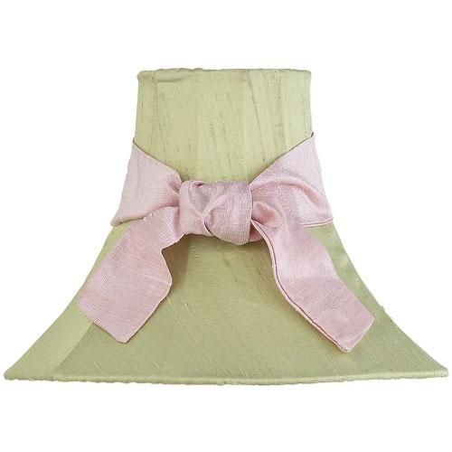 Green Lamp Shade With Pink Sash : Lamp Shades at PoshTots - Try to make this