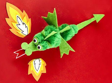 Dragon à pompons - Camp de la créativité - Michaels