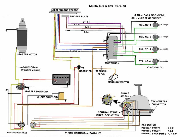 Mercury Outboard Wiring Diagram, Mercury Outboard Wiring Diagram Ignition Switch