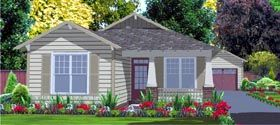 Elevation of Contemporary   House Plan 78799