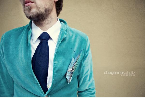 Groom Aqua Blue Velvet Groom S Suit With Navy Blue Tie