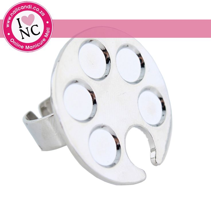 We have these awesome nail art palette rings available which are perfect for sliding onto your finger and doing your nail art. Available from NailCandi.