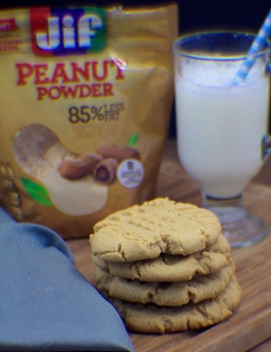 YUMMY Peanut Butter Cookies made with Jif Peanut Powder #StartWithJifPowder #ad Want some delicious peanut butter cookies that are a bit healthier then traditional? Well, here you go. For that sweet tooth craving