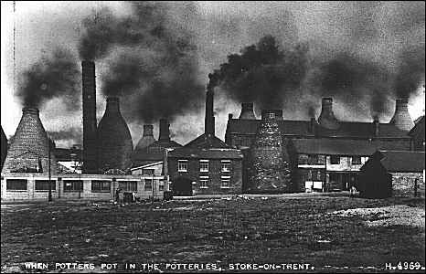 Bottle kilns, Stoke-on-Trent, uk