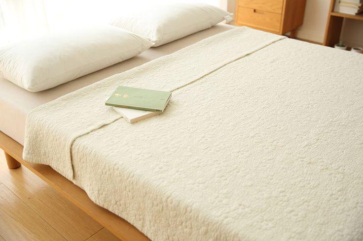 обуславливается Южной Кореи экспорт оригинальные один сплошной цвет хлопка стеганые песок мыть белье наматрасник постельные принадлежности - глобальная станция Taobao