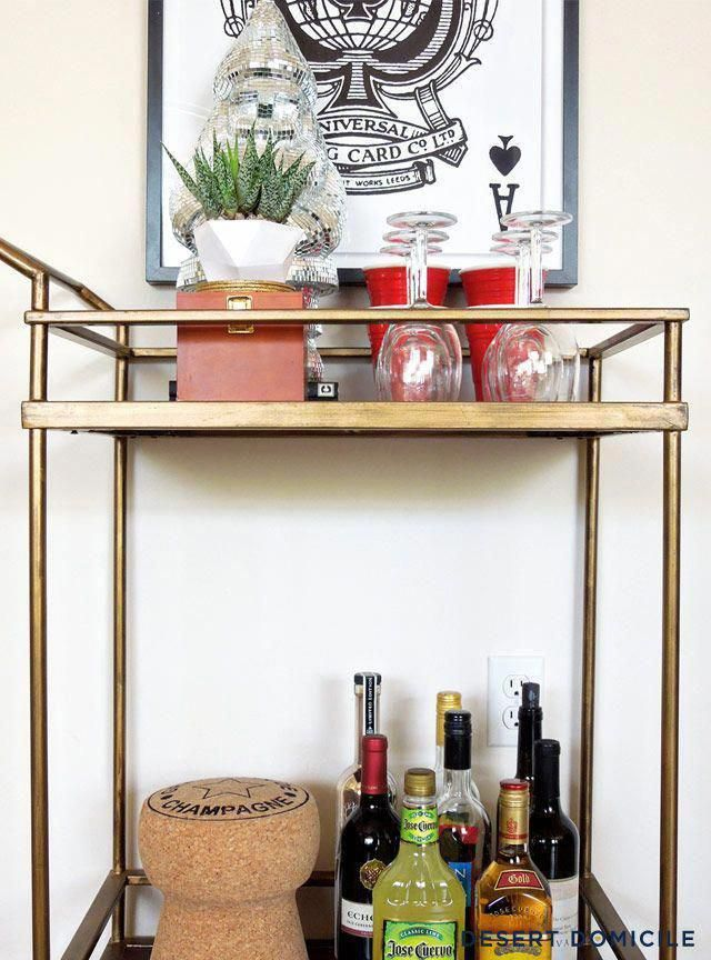 Check Out Our Website For Even More Info On Gold Bar Cart Diy It Is Actually A Great Location To Learn More Gold Bar Cart Bar Cart Decor Target Bar Cart