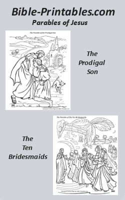 Bible-Printables.com Parables of Jesus Coloring Pages