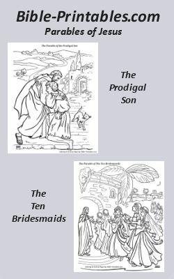 Bible-Printables.com Parables of Jesus Coloring Pages