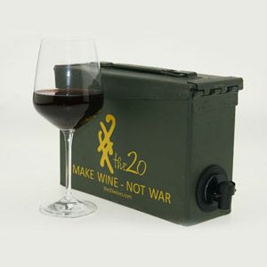 US Army Ammo Case For Boxed Wine. Since Jeff has experience modifying an ammo can, maybe he's up for this. . .  :)