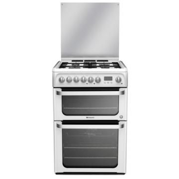 Hotpoint HUD61PS | 60cm Dual Fuel Cooker White