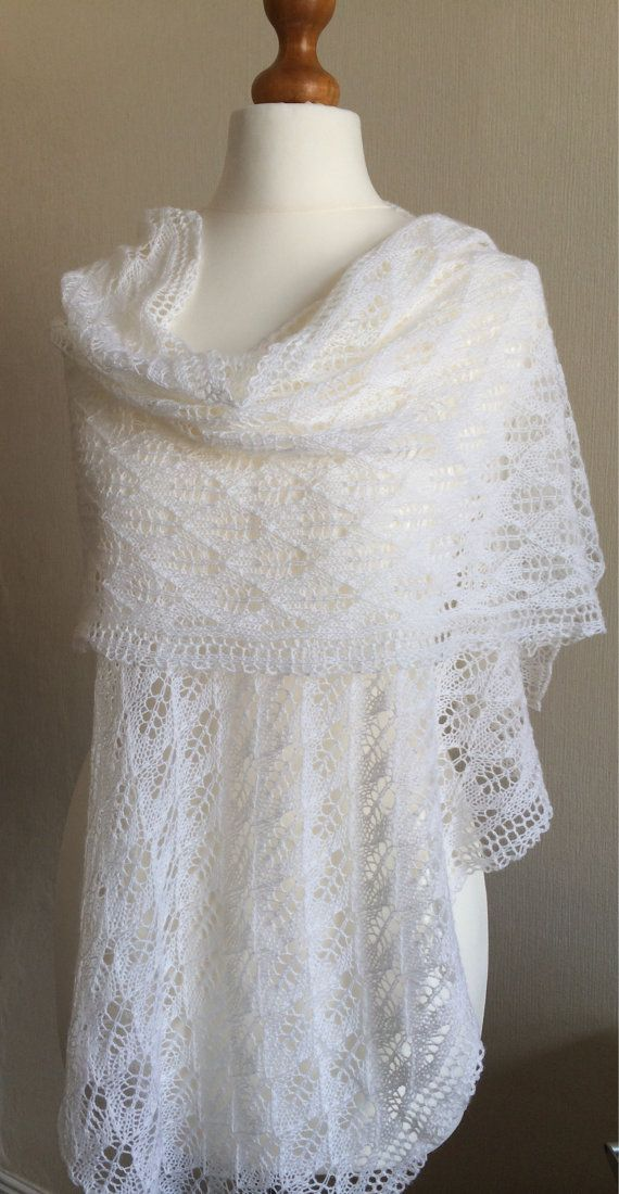 Knitting Patterns For Bridal Shawls : 46 best images about Hand knitted Lace shawls on Pinterest Lace, Wool and W...
