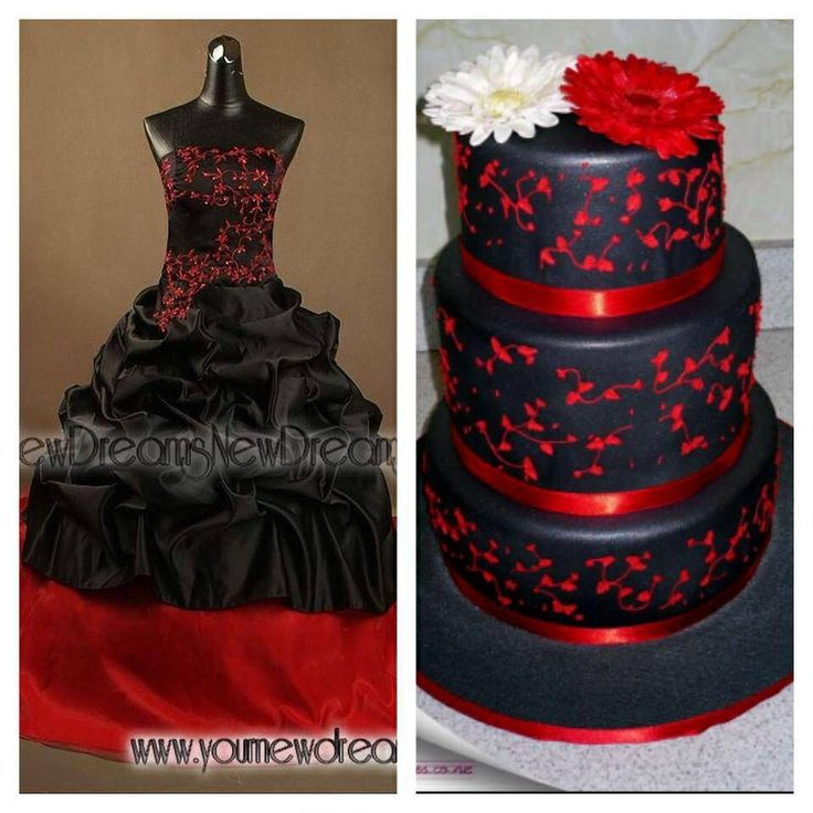 Black and red wedding mix-ball how wedding dress see more at www.yournewdreams.com