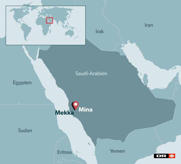 Dødstal eksploderer efter trampe-ulykke ved Mekka | Nyheder | DR