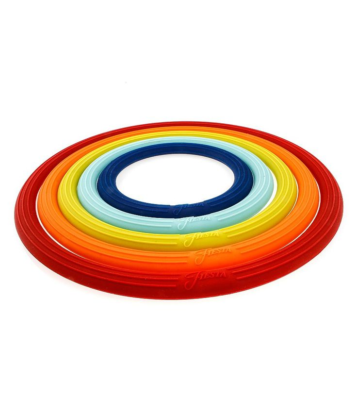 Fiesta nesting multifunction silicone ring trivets set of