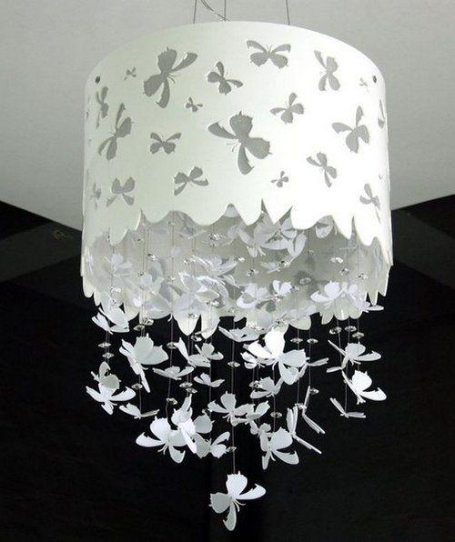 Люстра с бабочками фото