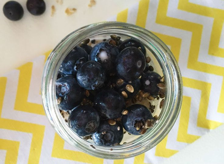 Overnight blueberry oats - The greatest breakfast trend is overnight oats. They're a great low FODMAP source of fiber and very filling.