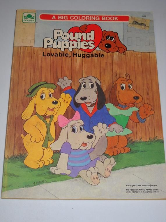 1986 Pound Puppies Lot Of 2 Books Giant Coloring Book Etsy Pound Puppies Pound Puppies Cartoon Coloring Books