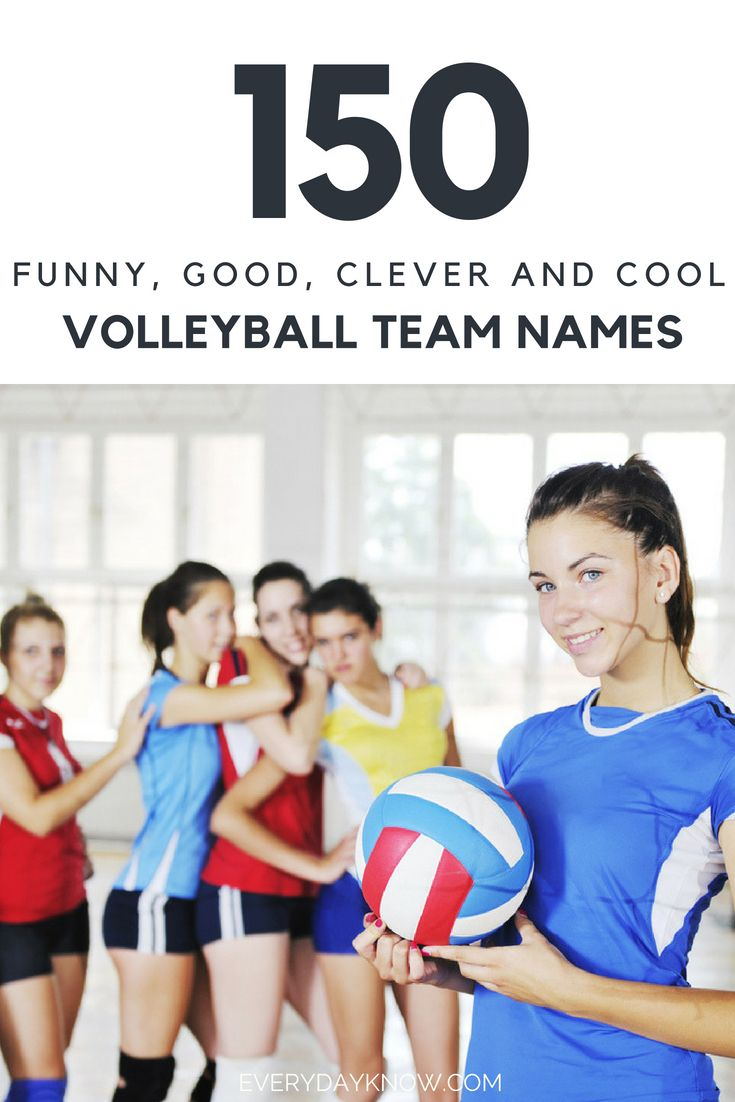 150 Funny Good Clever And Cool Volleyball Team Names Volleyball Team Names Best Team Names Team Names