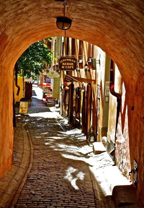Cobbled street of old Jerusalem, Israel