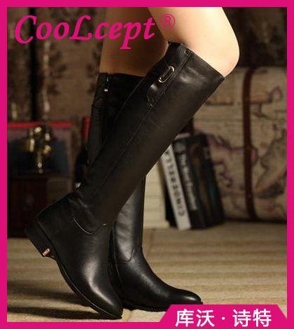 Размер 35-43 Зимой Теплый За Колено Мех Пряжки Марка Qaulity реальные Кожаные Сапоги Леди Дамской одежды Снег Ботинки Обувь Сапоги R1494
