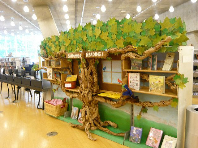 "This is a great idea for designing a ""Reading Tree"" that is actually part of a book shelf."