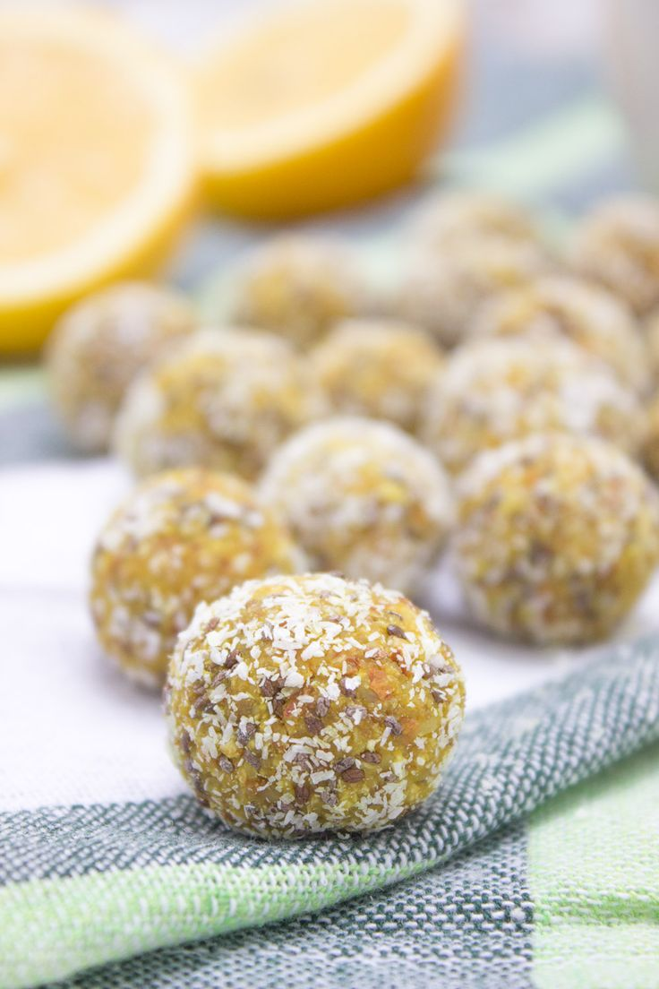 Immune boosting Lemon Turmeric Energy Balls rich in citrus aroma enriched with turmeric and chia seeds. Refined sugar-free, gluten free and vegan.