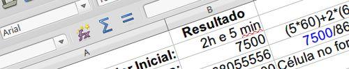 Dado que o LibreOffice respeita as normas ISO 8601 relativamente ao tema formato de representação de valores que correspondem a tempo, sempre que existem as actividades realizadas com este tipo de dado as mesmas são por defeito tratadas no formato hh:mm:ss. Consequentemente quando pretendemos realizar operações com números no formato …