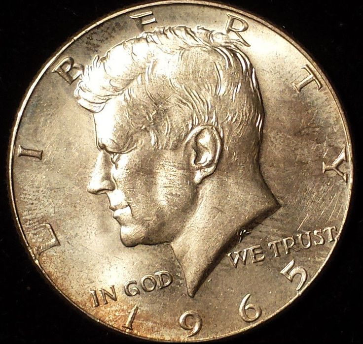 1965 50C Silver Kennedy Half Dollar Historic Coin Beautiful Details