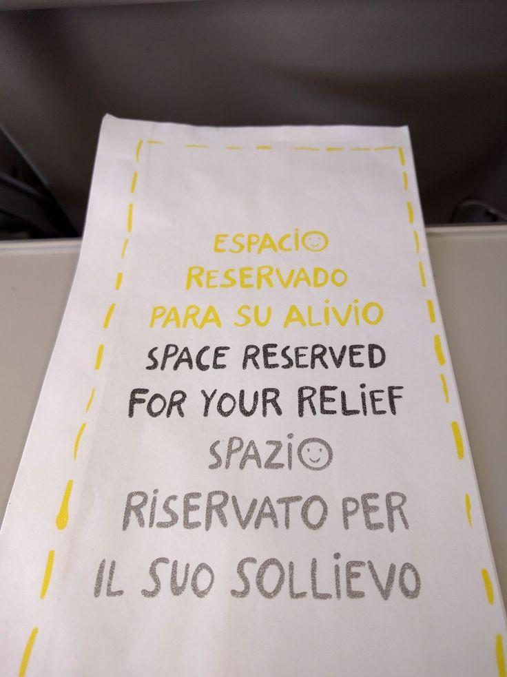 Air sickness bag, Milano
