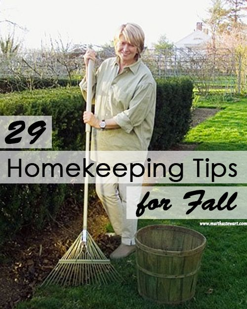 Leaves turning and falling signal important tasks for your home and garden. Make sure your spaces are ready for a long winter's nap. It's easy to do with these simple homekeeping reminders.