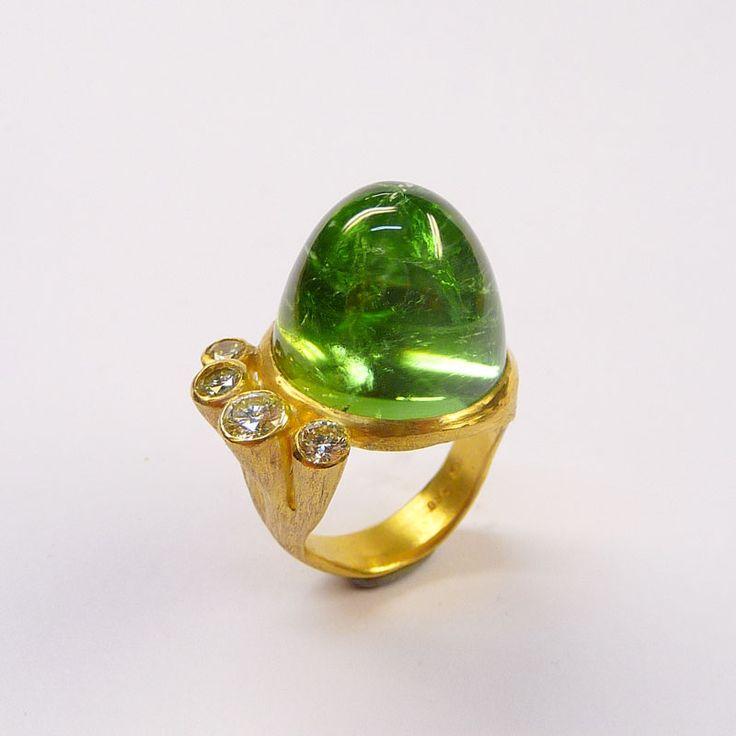Ring Gelbgold Turmalin – Brillanten