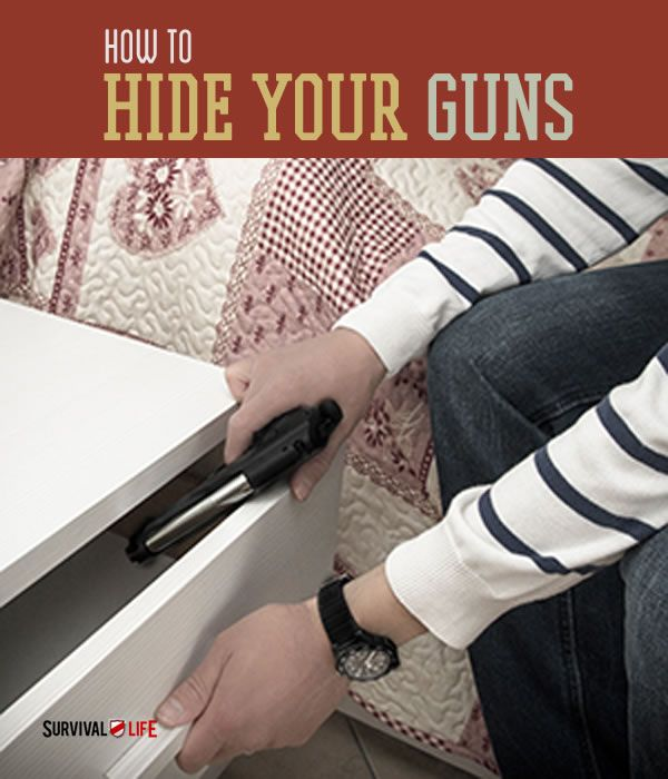 Hidden Gun Storage Ideas - Keep yourself protected and your firearms inconspicuous with these ideas.